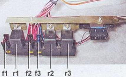 Блок предохранителей и реле ВАЗ 2107 схемы инжектор карбюратор